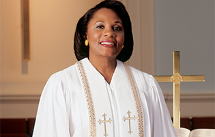 RT Wesley H-94F — White Wonder Crepe fabric with white velvet front panels.  Wheat pattern gold trim and gold Latin crosses enhance this elegant clergy  robe. a9286d53b